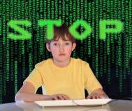 De verslaving van de computer Royalty-vrije Stock Afbeeldingen