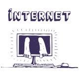 De Verslaving van Internet royalty-vrije illustratie