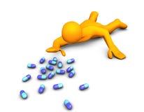 De Verslaving van pillen Stock Afbeeldingen