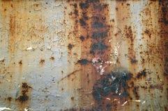 De versleten roestige achtergrond van de metaaltextuur Stock Afbeelding