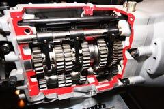 De versnellingsbak van de Sportwagen van de hoge snelheid. Stock Foto's