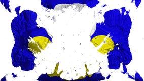 De verspreide vlag van Brussel royalty-vrije illustratie