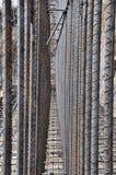 De versterkingsmuur van het staal royalty-vrije stock afbeelding