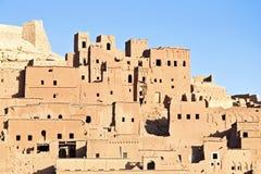 De versterkte stad van AIT ben Haddou dichtbij Ouarzazate Marokko Royalty-vrije Stock Fotografie