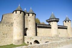 De Versterkte stad van Carcassonne Royalty-vrije Stock Foto