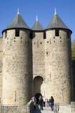 De Versterkte stad van Carcassonne Stock Fotografie