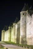 De Versterkte stad van Carcassonne Royalty-vrije Stock Afbeeldingen