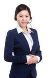 De vertegenwoordiger van de klantendiensten Stock Afbeeldingen