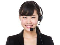 De vertegenwoordiger van de klantendiensten Stock Afbeelding