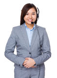 De vertegenwoordiger van de klantendiensten Stock Foto