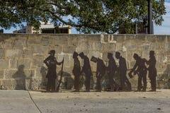 De vertegenwoordiging van veroordeelt wie aan Fremantle-gevangenis, Westelijk Australië worden begeleid royalty-vrije stock fotografie
