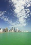 De verticaal van de de stadshorizon van Doha Stock Afbeeldingen