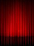 De verticaal van het theatergordijn Stock Afbeeldingen