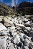 De verticaal van stenen en van bergen Stock Foto
