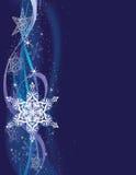 De verticale Achtergrond van de Sneeuwvlok stock illustratie
