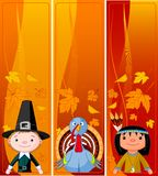 De verticale Banners van de Dankzegging Stock Fotografie