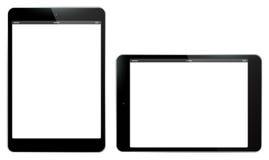 De Verticale en Horizontale Vectorillustratie van tabletpc Royalty-vrije Stock Afbeelding