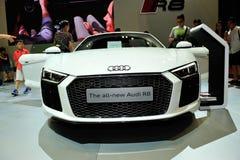 De vertoning van Audi R8 tijdens Singapore Motorshow 2016 Stock Fotografie