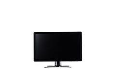 De vertoning van de HOOFDmonitorcomputer op de witte geïsoleerde technologie van de achtergrondhardwaredesktop Stock Afbeelding