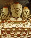 De Vertoning van de Opslag van juwelen stock afbeelding