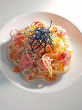 De vertoning van de spaghetti Stock Fotografie