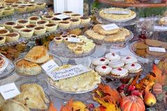 De vertoning van het dessert Stock Fotografie
