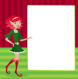De Vertoning van het Elf van de vakantie Royalty-vrije Stock Afbeeldingen