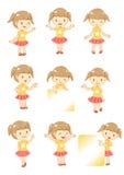 De vertoning van het meisje Stock Foto's