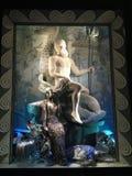 De vertoning van het vakantievenster in Bergdorf Goodman, NYC Stock Fotografie