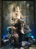 De vertoning van het vakantievenster in Bergdorf Goodman, NYC Stock Foto