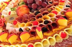 De vertoning van het voedsel Stock Foto