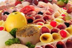 De vertoning van het voedsel Stock Fotografie