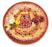 De vertoning van het voedsel Stock Afbeelding