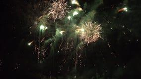 De Vertoning van het vuurwerk stock footage