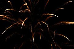 De vertoning van het vuurwerk Royalty-vrije Stock Fotografie