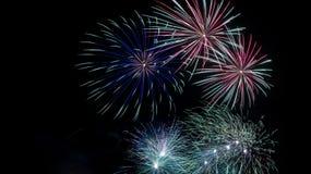 De Vertoning van het vuurwerk Stock Foto's