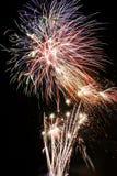 De vertoning van het vuurwerk Stock Fotografie
