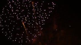 De Vertoning van het vuurwerk Festivalvuurwerk 4K 30fps stock video