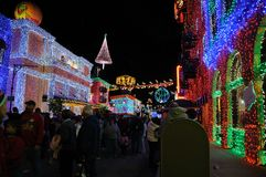 De vertoning van Kerstmis van Osborne bij de Wereld van Walt Disney Stock Foto