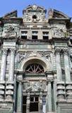 De vervallen Barokke voorgevel van de Heroplevingsarchitectuur Stock Afbeelding