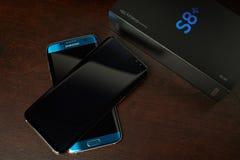 De vervanging van Samsung S8 van S7 rand Stock Foto