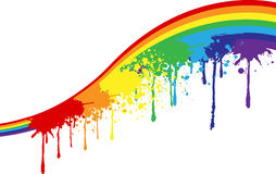 De verven van de regenboog Stock Afbeelding