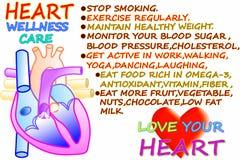 De verwante woorden van hartwellness zorg op witte achtergrond stock illustratie