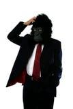 De verwarde mens van de Gorilla royalty-vrije stock afbeeldingen
