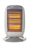 De verwarmer van het halogeen die op wit wordt geïsoleerd- Stock Foto's
