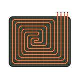 De verwarmerpictogram van de huisvloer, vlakke stijl vector illustratie
