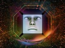 De verwerking van Super Menselijke AI Stock Foto