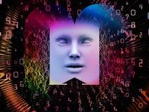 De verwerking van Super Menselijke AI Stock Afbeeldingen