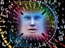 De verwerking van Super Menselijke AI Royalty-vrije Stock Afbeeldingen