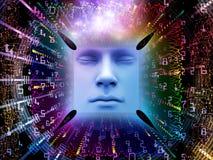 De verwerking van Super Menselijke AI Stock Afbeelding